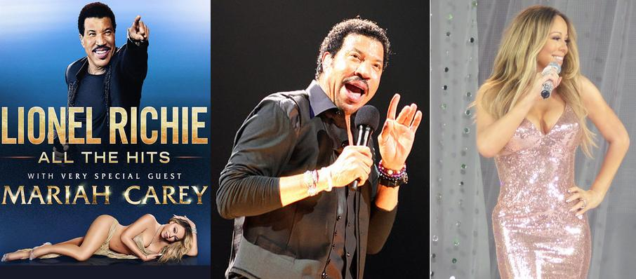 Lionel Richie with Mariah Carey at American Airlines Center