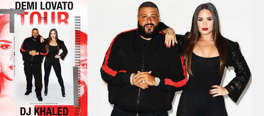 Demi Lovato and DJ Khaled at American Airlines Center