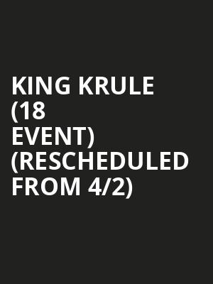 King Krule (18+ Event) (Rescheduled from 4/2) at House of Blues