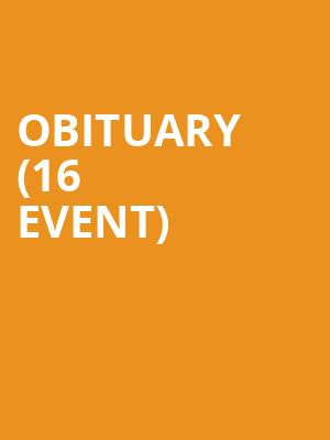 Obituary (16+ Event) at Gas Monkey Bar N' Grill