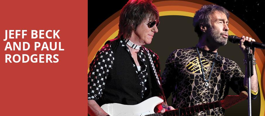 Jeff Beck and Paul Rodgers, Pavilion at the Music Factory, Dallas