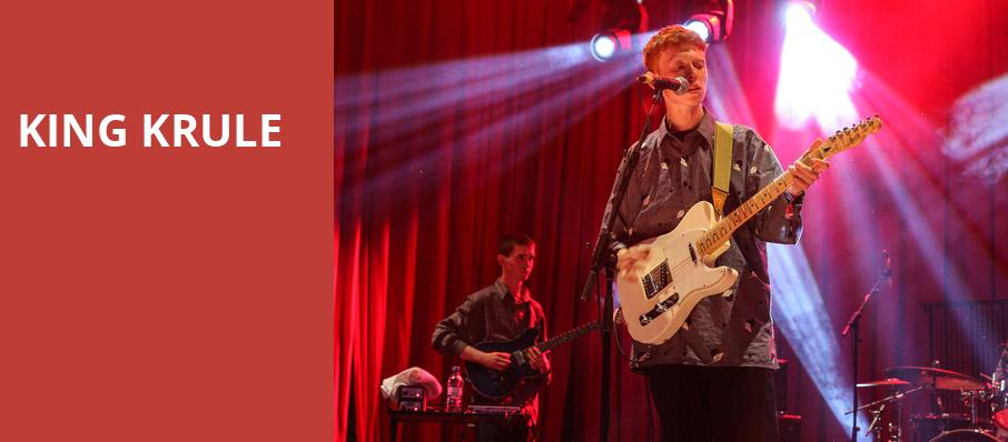King Krule, House of Blues, Dallas